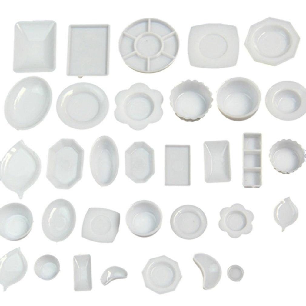 1:12 Dollhouse Kitchen Accessories Dish Tableware Miniature Kitchen Dollhouse DIY Mini Plates Accessories Kit