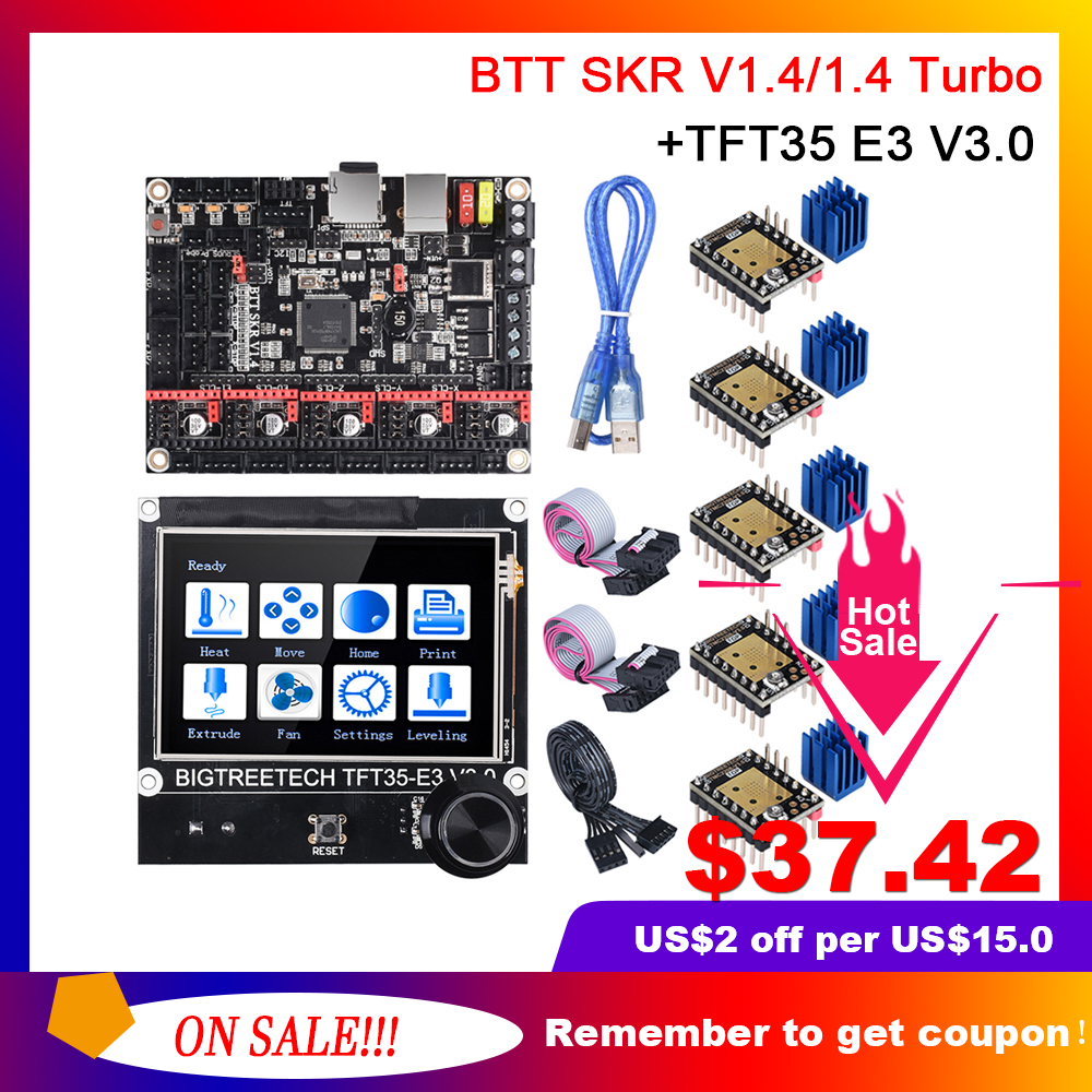 BIGTREETECH BTT SKR V1 4 SKR V1 4 Turbo 32Bit Board TFT35 E3 V3 0 Touch Screen Upgrade SKR V1 3 TMC2208 TMC2209 3D Printer Parts