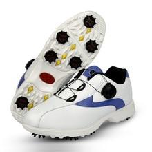 Chaussures de Golf étanches pour hommes, baskets respirantes avec fermeture à bouton, chaussures de sport antidérapantes, collection 2019
