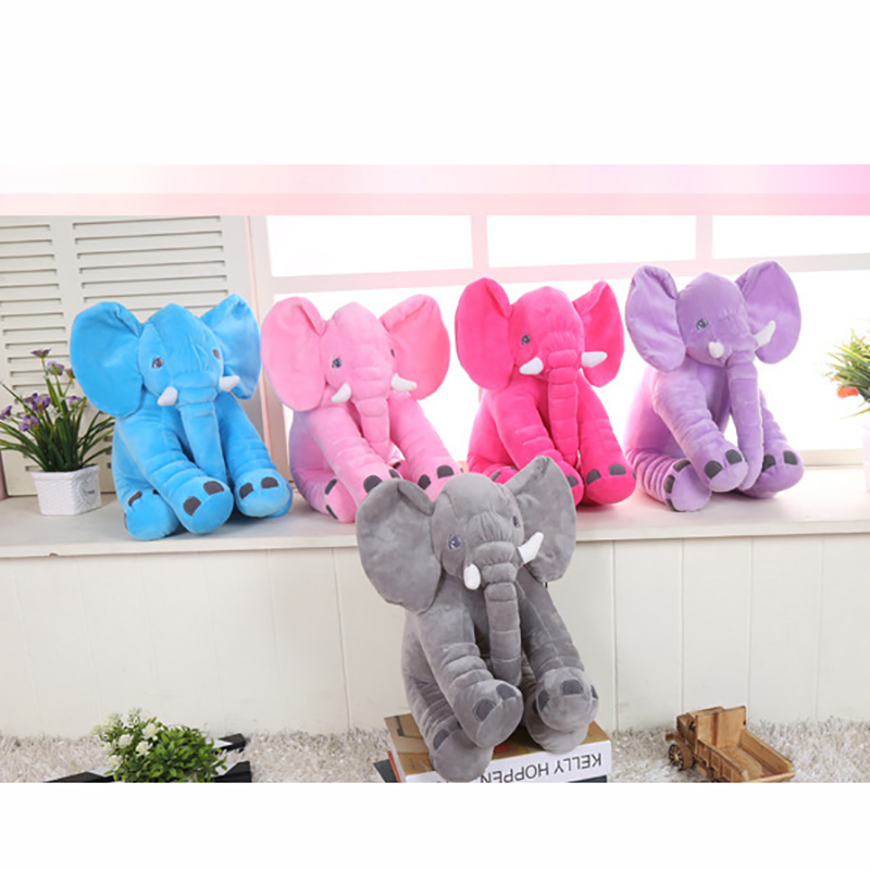 33/40/60cm NO Stuffed Giant Elephant  6 Colors Soft Plush Toy Animal Elephant Kids Toys Kids Baby Sleeping Pillows