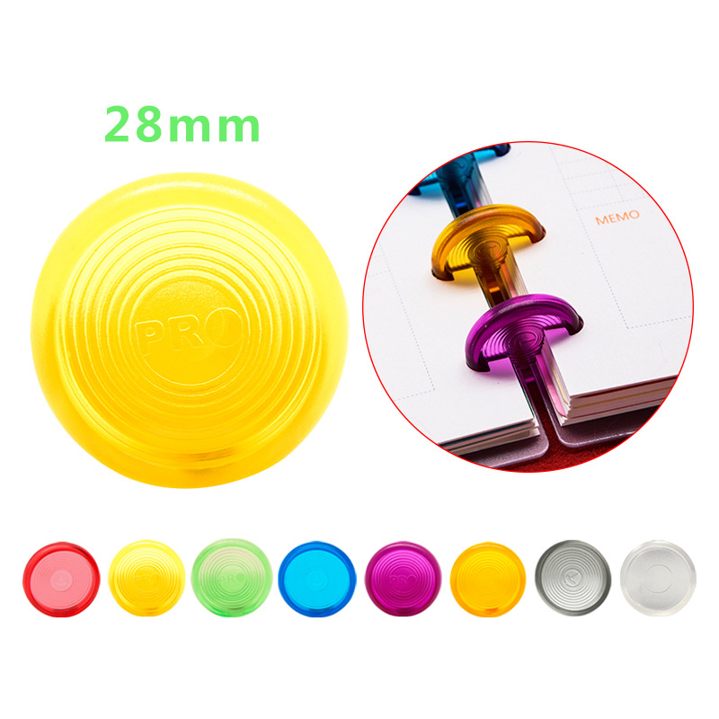 Fromthenon 28mm Color Plastic Disc Bound Ring For Mushroom T Type Holes Notebook Happy Planner Binding Accessories Stationery
