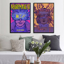 William Gibson Film Neuromancer Movie Classic Sci-Fi Art Canvas Painting Poster Wall Home Decor gibson william burning chrome
