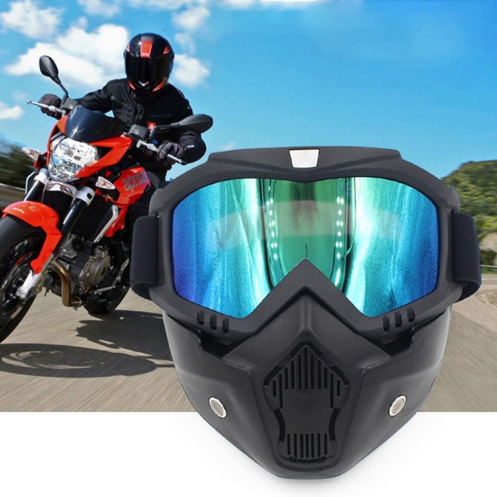 2019 New  Modular Mask Detachable Goggles And Mouth Filter Perfect For Open Face Motorcycle Half Helmet Or Vintage Helmets