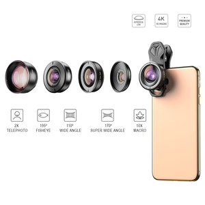 Image 2 - APEXEL HD 5 ב 1 מצלמה טלפון עדשת 4 K רחב מאקרו עדשת דיוקן סופר Fisheye עדשת CPL מסנן עבור iPhone7 8 סמסונג allsmartphone