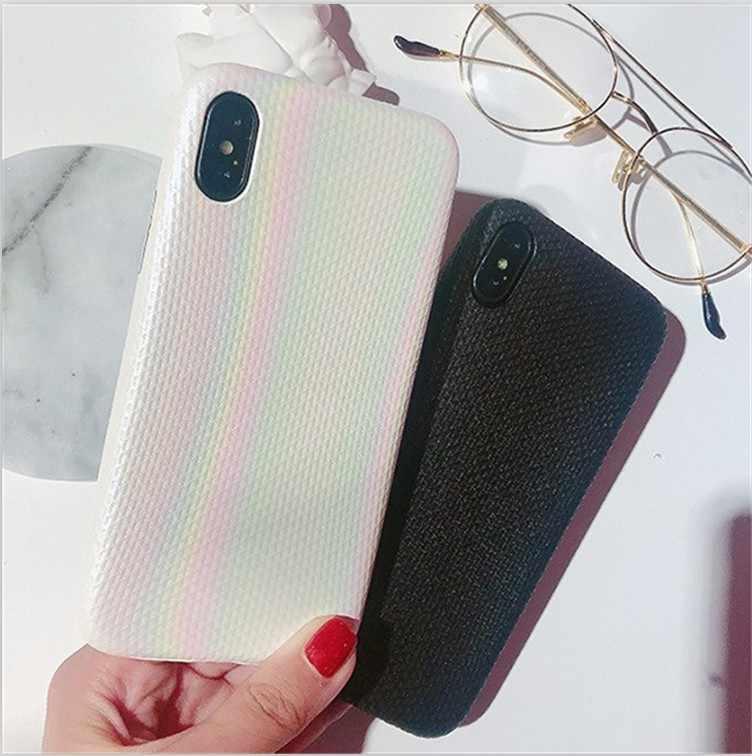 Простой сплошной цветной узор Радуга Apple Xs MAX чехол для телефона IPhone8/6 plus