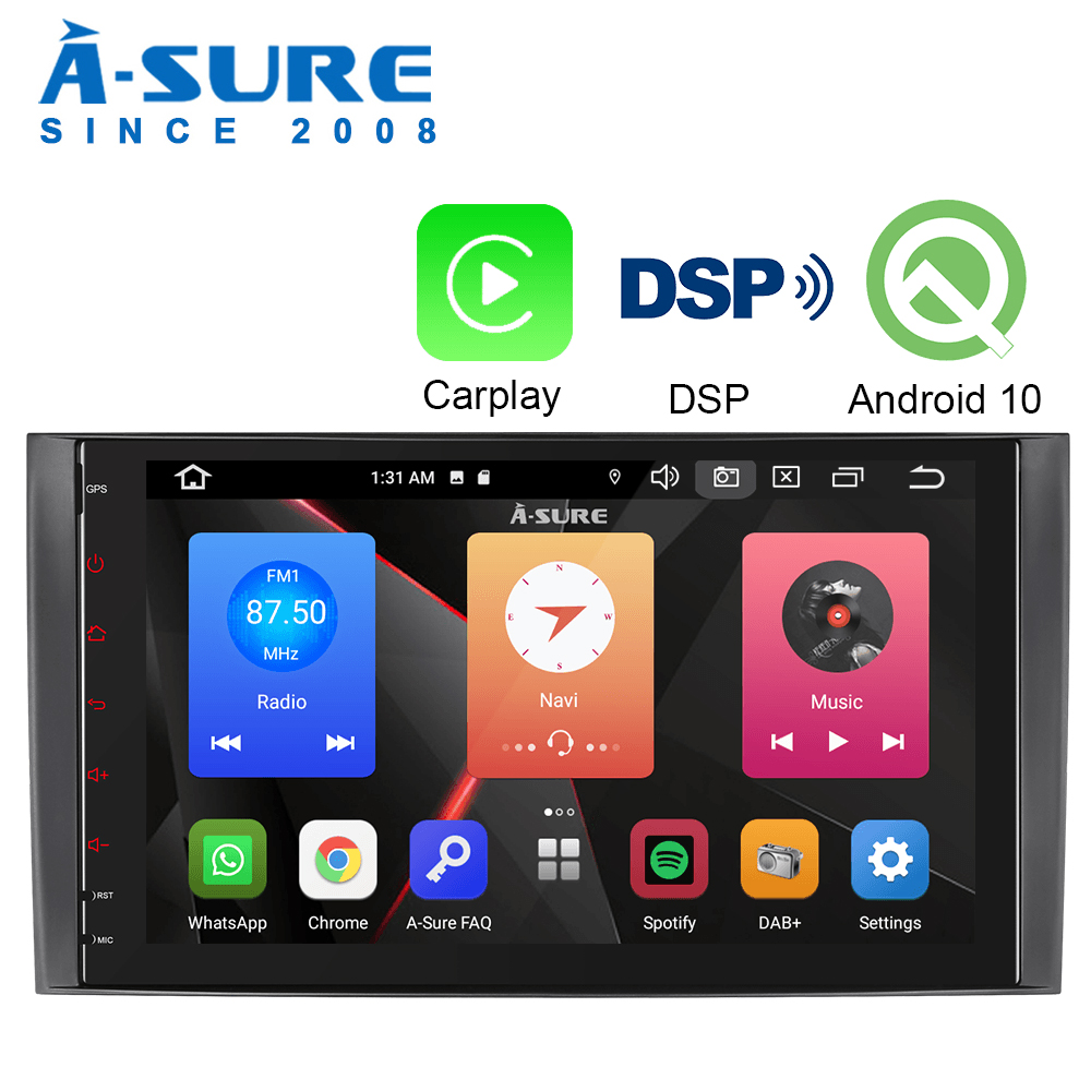 A-Sure 9 Inch <font><b>Android</b></font> 10.0 Stereo <font><b>Radio</b></font> Carplay DSP GPS Navigation For <font><b>Mercedes</b></font> <font><b>Benz</b></font> A/B Class <font><b>W169</b></font> W245 Sprinter Vi Crafte image