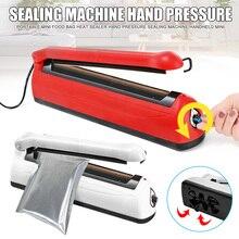 Портативный мини мешок еды герметик тепла машина запечатывания давления руки КПК свежие HTQ99