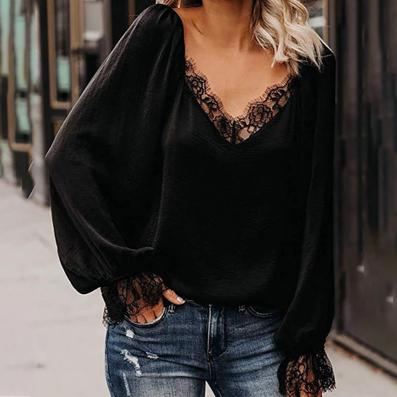 Lantern Long Sleeves Blouse