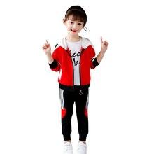 Одежда для девочек весенне осенний спортивный комплект из двух