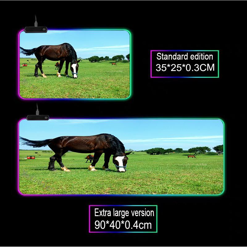 Mairuige животное лошадь узор на заказ большой rgb светодиодный