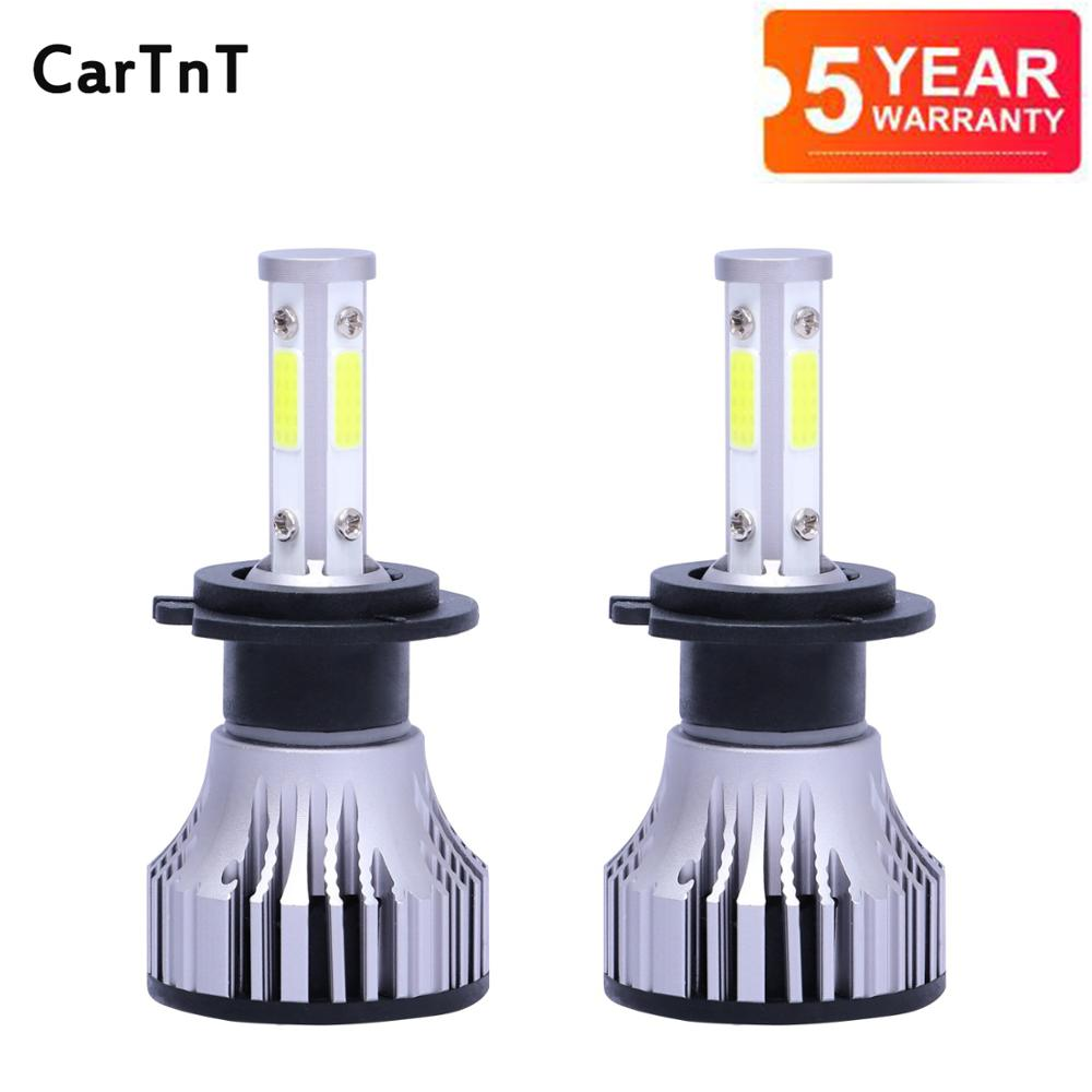 2 шт. H7 светодиодный лампы H4 H11 H8 H9 9005 9006 HB3 HB4 9012 9007 светодиодный фар автомобиля лампы 16000LM Авто автостайлинг для автомобильных фар светодиодны...