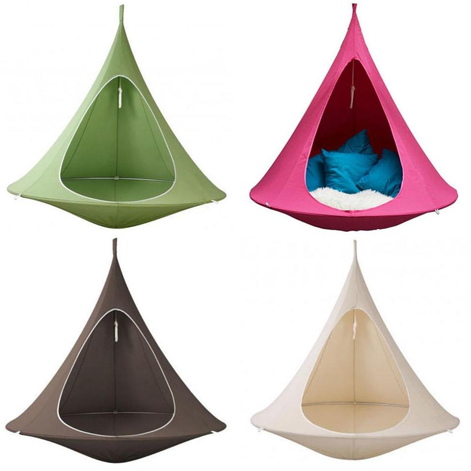 Ufo Shape Teepee Tree Hanging Silkworm Swing Chair For Kids Adults Indoor Outdoor Hammock Tent Hamaca Patio Furniture Sofa Cover Aliexpress