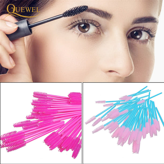 50 PCS Disposable Eyelash Brushes Mascara Wands Eye Lash Eyelashes Extension Eyebrow Applicator Cosmetic Makeup Brush Tool Kits 1