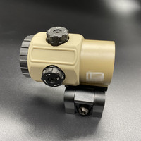 New Tactical G43 3x Magnifier Scope Sight Tan Color with QD Mount Fit for 20mm rail Rifle Accessory