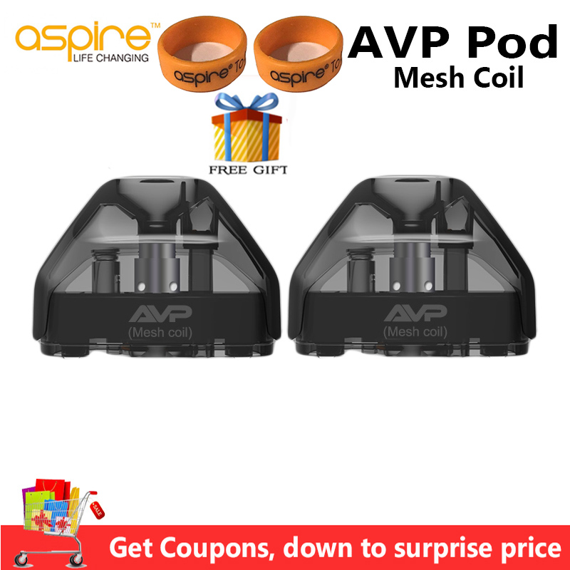 20/6pcs Aspire AVP Pod Mesh Coil 2ml Vape Pod Cartridge With Cotton/Ceramic Coil Electronic Cigarette Atomizer Aspire AVP Mesh