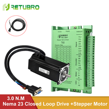Closed Loop Nema 23 Stepper Motor Driver Kit 3NM 428.5oz.in with 3M Encoder Extension Cable for CNC Machine