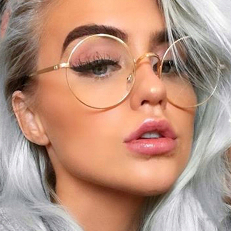 Retro round glasses frame metal Clear lens Glasses Frame for Women Classic Optical Vintage gold women's eyeglass frame Oculos