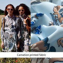 145cm digital printed fabric meter Fashion week printed fabric 100% polyester fabric wholesale polyester cloth(China)