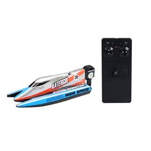 2.4GHz RC Boat 4 CH High Speed Mini RC Racing Boat Drop Bruise Rechargeable Powerful Speedboat Child