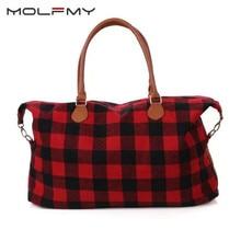 Рождественская большая красная сумочка в клетку в красную и белую клетку, пляжная сумка, холщовая Сумочка, Прямая поставка
