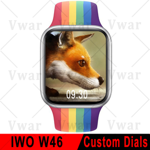 Оригинальный Vwar W46 Смарт-часы 2020 мужские и женские ЭКГ тела Температура 1,75 дюймов Экран IP68 Водонепроницаемый Smartwatch pk IWO 12 Pro W26