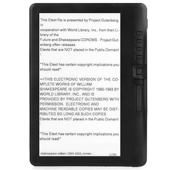 4GB Ebook Reader Smart with 7 Inch HD Screen Digital E-Book+Video+MP3 Music Player Color Screen ELECTSHONG