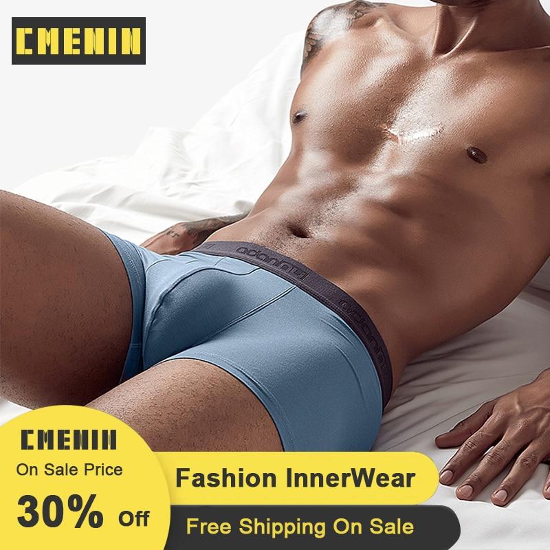 Men Underwear Boxer Cotton Modal Underpants Cueca Male Panties 6 Color Solid Gay Men Under Wear Lingerie Boxers Pants AD306