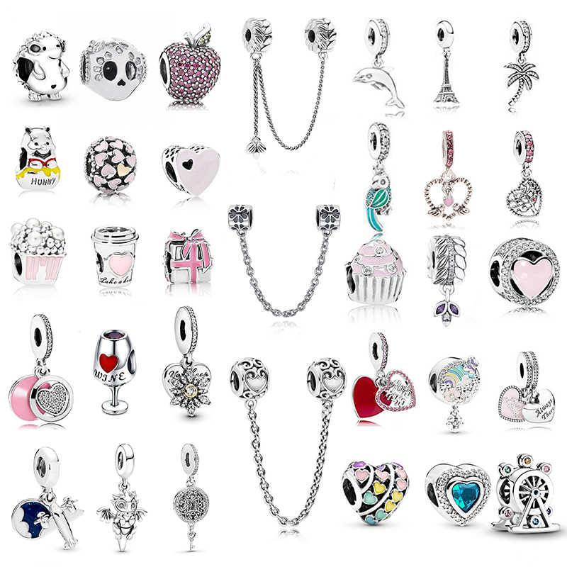 2 pz/lotto nuovi arrivi Europeo Di Natale arcobaleno perle di collana del braccialetto delle donne di fascino di amore Per Il Marchio originale accessori FAI DA TE