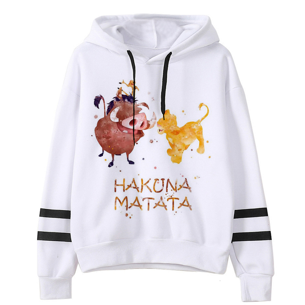 Cartoon 90s Lion King Sweatshirts Graphic Unisex Hoody Female Hakuna Matata Harajuku Kawaii Print Hoodies Women Ullzang Funny