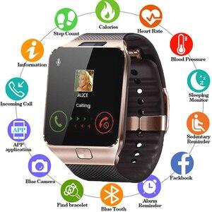 Умные часы DZ09 с поддержкой Bluetooth, мужские часы и часы с поддержкой TF SIM-карты, женские спортивные наручные часы для смартфонов android
