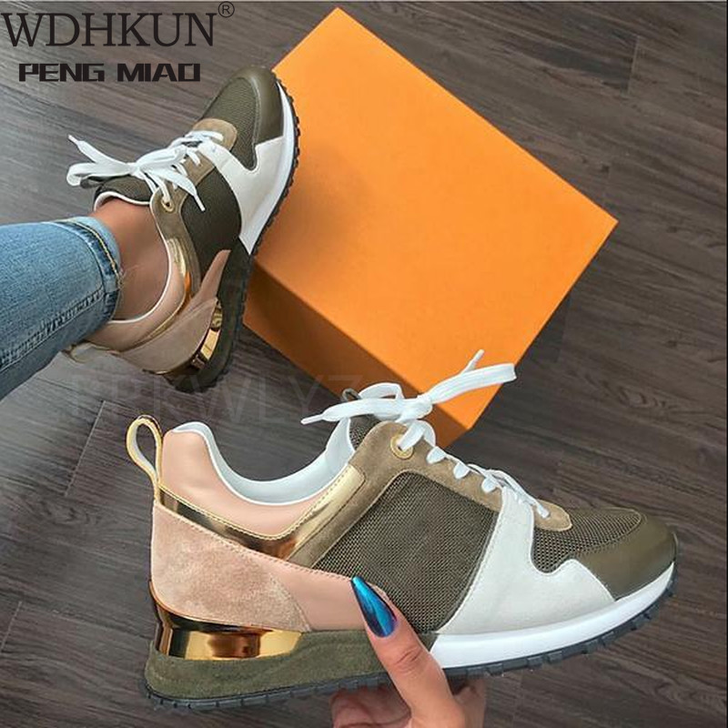 New Fashion Women's Sneakers Leopard Print Leather Thick Bottom Increased Sneakers Casual Comfortable Sports Shoes for Ladies Women's Vulcanize Shoes  - AliExpress