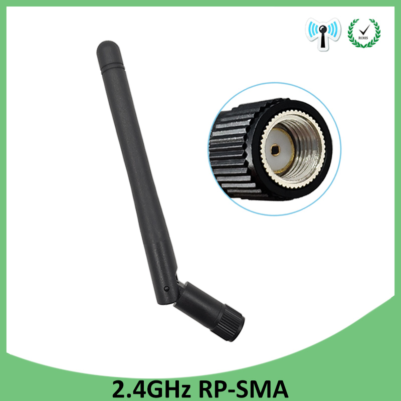 2.4 GHz WiFi Antenna 3dBi Aerial RP-SMA Male Connector 2.4ghz antena wi fi antenne For PCI Card USB Wireless Router Wifi Booster