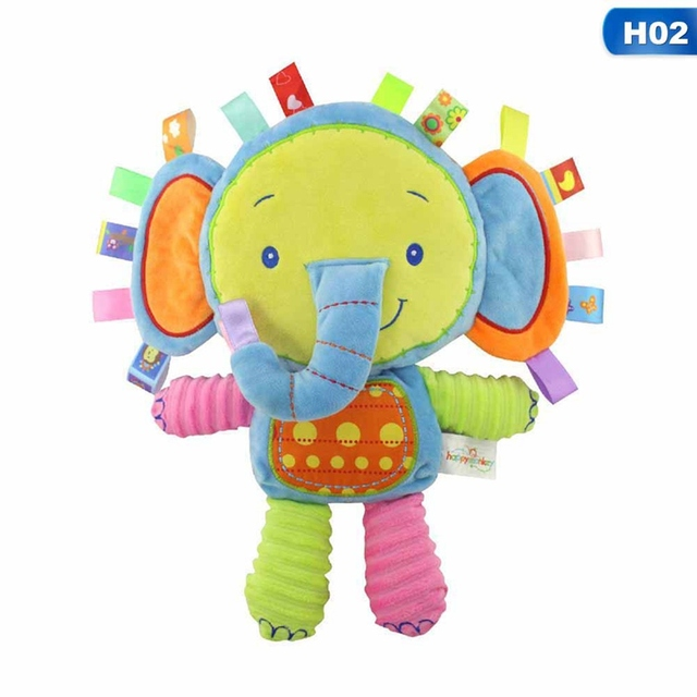 5 Styles Baby Toys Rattles Pacify Doll Plush Toys Baby Rattles Animal Hand Bells Newborn Animal Elephan Rabbit Doll