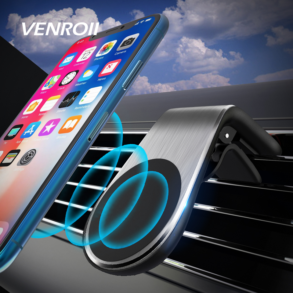 Venroii Universal Magnetic Phone Car Holder For Honor Xiaomi Redmi Note 7 8 Air Vent Mount Bracket For IPhone 11 Pro XS MAX X XR