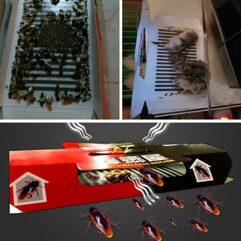 Cockroach Catcher Device Killing Cockroach House Bait Sticky Board Traps Non Toxic Super Sticky Trap Sticker Household Products
