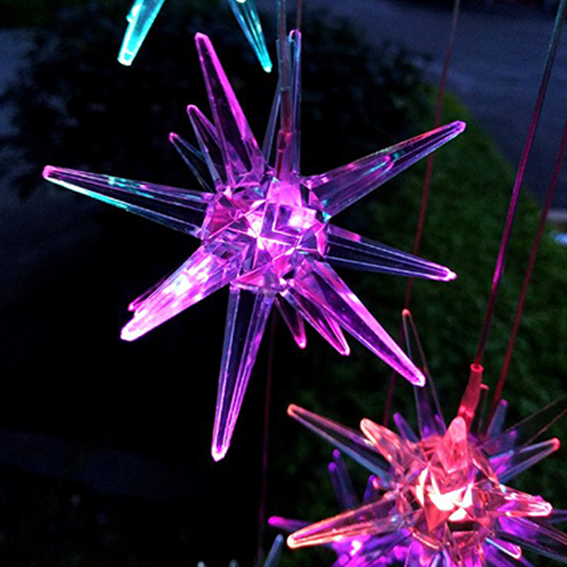 Solar Wind Chime Light Color Changing Solar Wind Chime Light Solar Lamp Waterproof Outdoor LED Solar Light For Home Party Garden