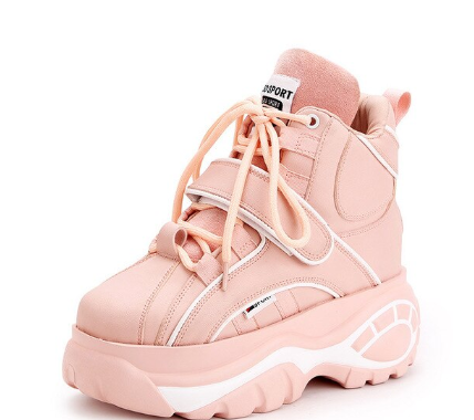 YEELOCA 2020 Sneakers M001 Women Autumn WinterIncrease Height Shoes High Top Thick Bottom Fashion Casual Shoes KZ0157
