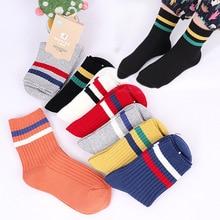 2019 Autumn New 0-15 Year 10 Pairs Of Socks Children Cotton Breathable Soild Stripe Keep Warm Baby