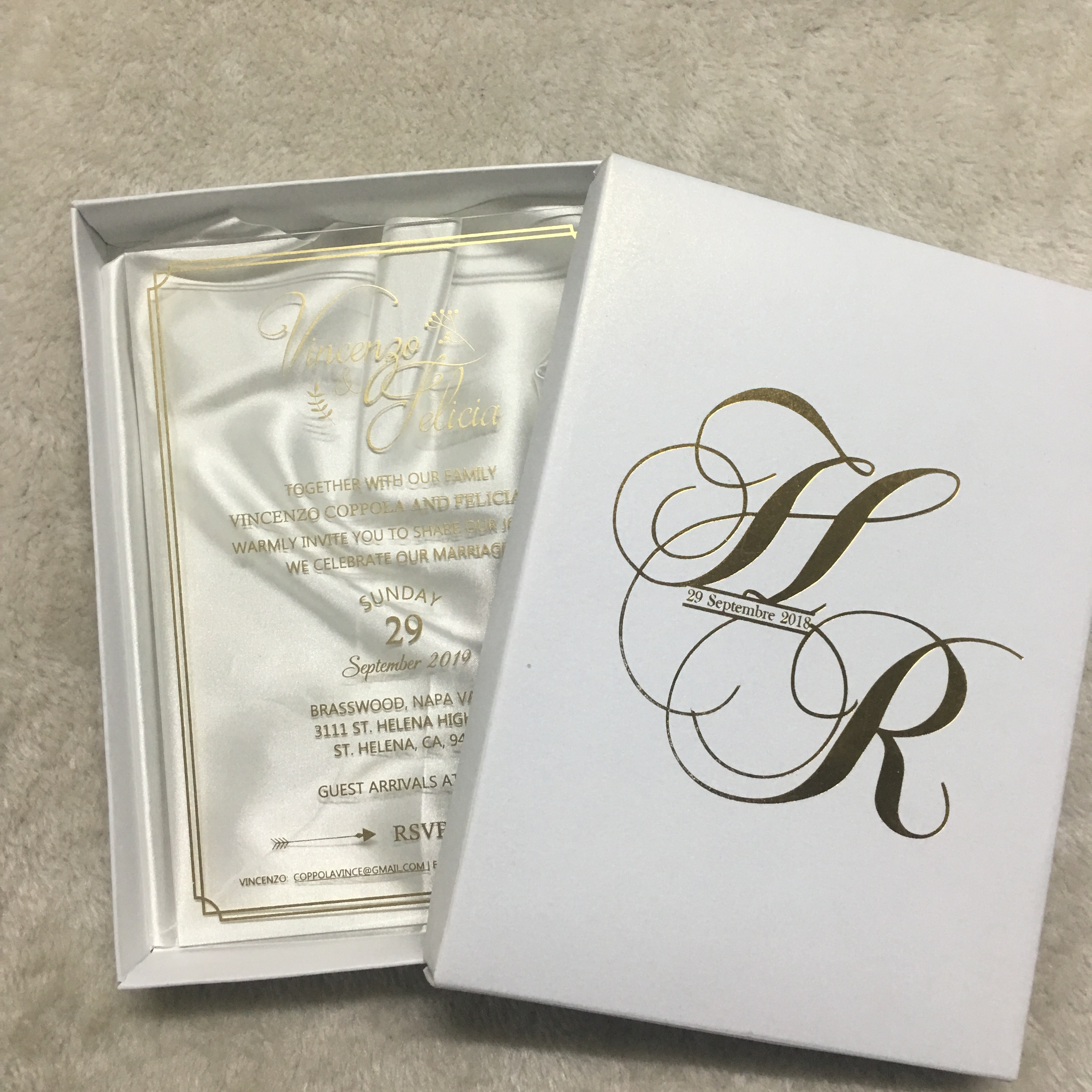 10pcs Invitation Card With Box Wedding Souvenir Decoration Customize Cards Invitations