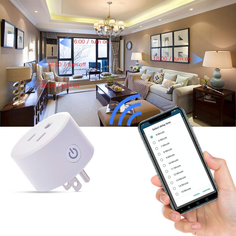 1/2/4pcs DoHome Wifi Smart Plug (compatible With) Apple Homekit Socket Outlet Switch Timer Home APP Alexa/Google Assistant