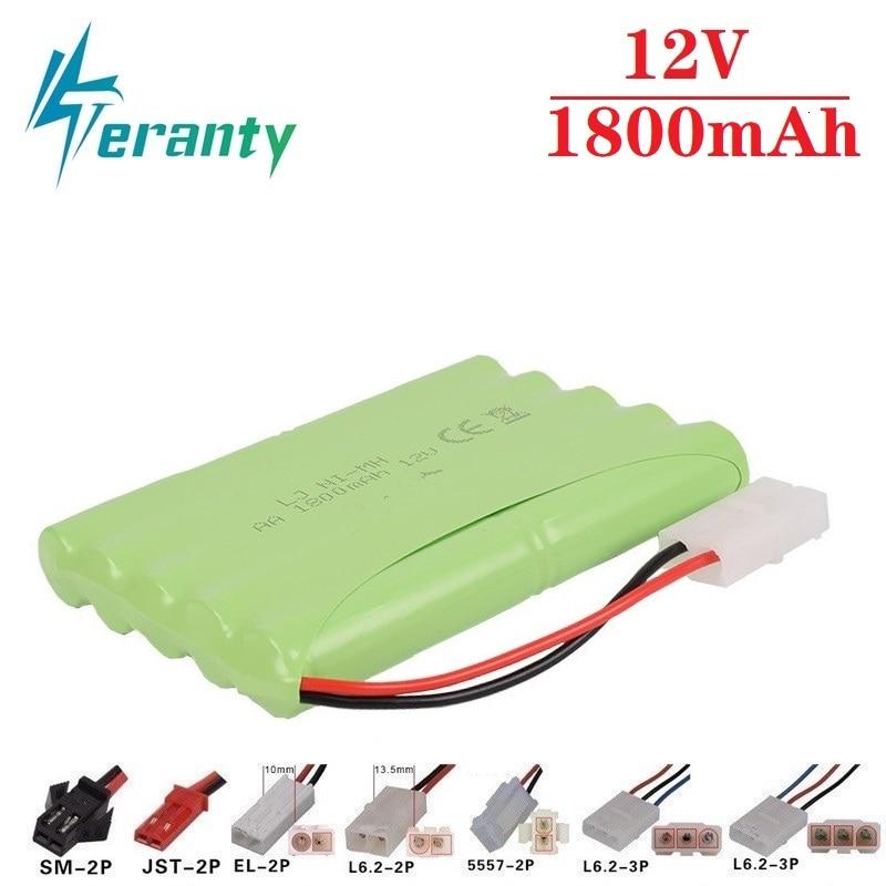 1800mah 12v Rechargeable Battery For Rc Toys Cars Tanks Train RC Robots Gun Boat NiMH Battery AA 12v 1000mah Battery Pack