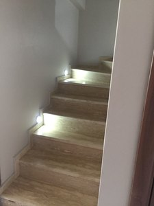 Image 3 - 6 LED モーションセンサーナイトライトワイヤレス赤外線自動センサー壁ランプバッテリ駆動屋内キャビネット階段クローゼット光