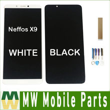 For TP-LINK Neffos X9 LCD Display Touch Screen Sensor Glass Assembly Black White Color With tools& tape(China)
