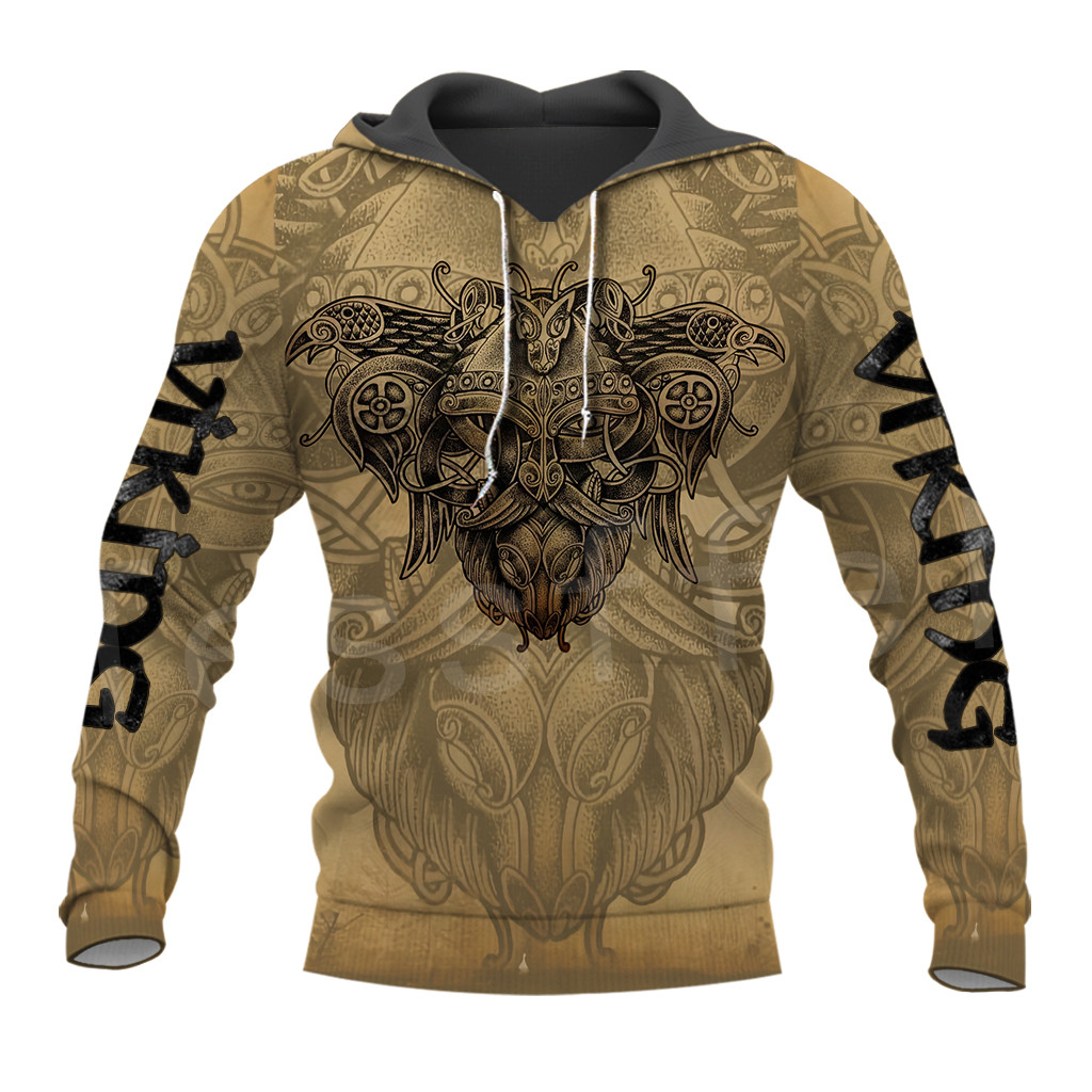 Tessffel Unisex Vikings Symbol Tattoo Viking Warriors NewFashion Harajuku MenWomen 3DPrint Zipper/Sweatshirts/Hoodies/Jacket S11