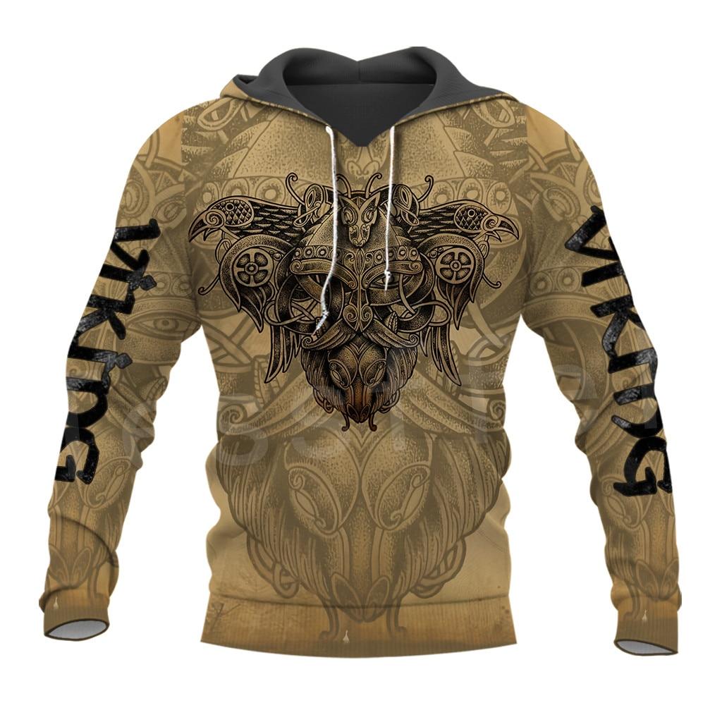 Tessffel Unisex Vikings Symbol Tattoo Viking Warriors NewFashion Harajuku MenWomen 3DPrint Zipper/Sweatshirts/Hoodies/Jacket S11