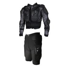 Куртка(L)+ короткая(M)-защитный костюм для мотоцикла спортивный мотопробег, гонки Гонки полная защита для корпуса Броня