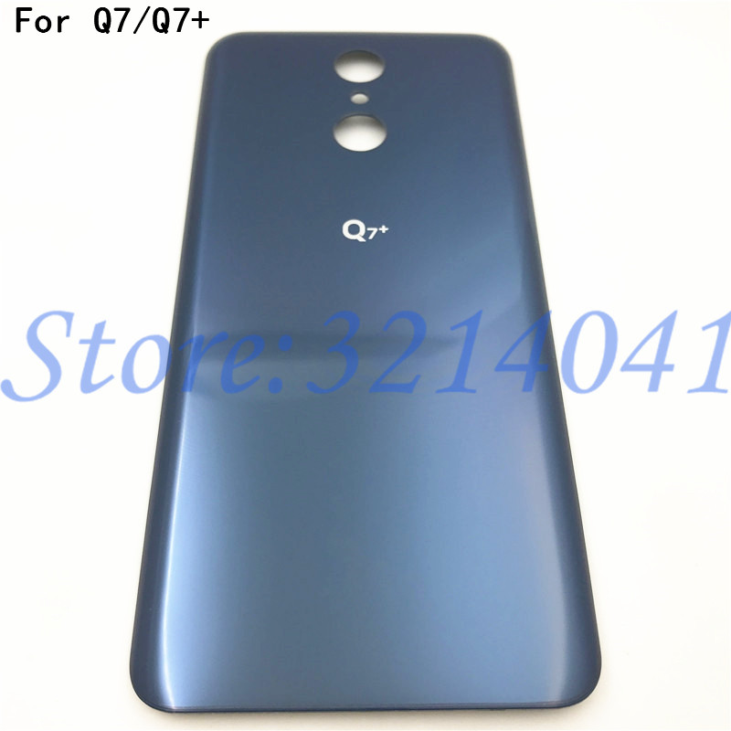 Original For LG Q7 Q7+ Battery Cover Case Back Battery Cover Rear Door Back Case Housing Case With Logo