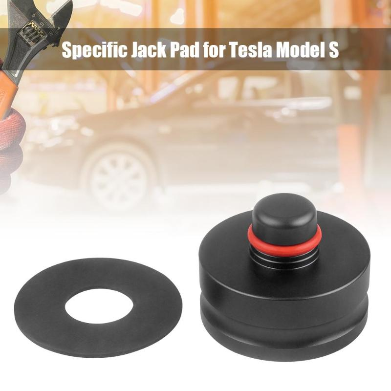Aluminum Alloy Chassis Specific Jack Pad Lift Point Adapter For Tesla Model S  Neoprene Gasket Protects Paint Surface