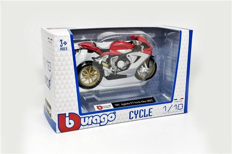 MV AGUSTA f3 serie oro 2012 ROSSO 1:12 Moto Modello Die Cast Bike Model