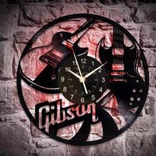 Gibson Handmade Music Wall Clock 12 Inch Gibson Guitar Birthday Gift Idea for Man and Woman Music Original Home Decor Music Gift gibson william burning chrome
